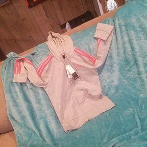 New adidas track hoodie zip up
